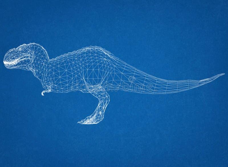 Σχεδιάγραμμα αρχιτεκτόνων δεινοσαύρων στοκ φωτογραφίες