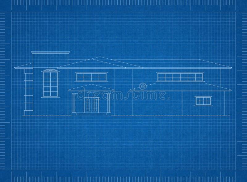 Σχεδιάγραμμα αρχιτεκτόνων σπιτιών διανυσματική απεικόνιση
