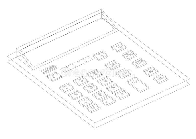 Σχεδιάγραμμα αρχιτεκτόνων υπολογιστών - απομονώστε απεικόνιση αποθεμάτων