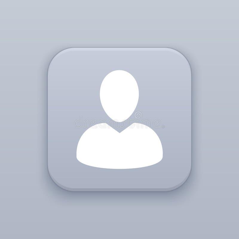 Σχεδιάγραμμα, γκρίζο διανυσματικό κουμπί χρηστών με το άσπρο εικονίδιο ελεύθερη απεικόνιση δικαιώματος