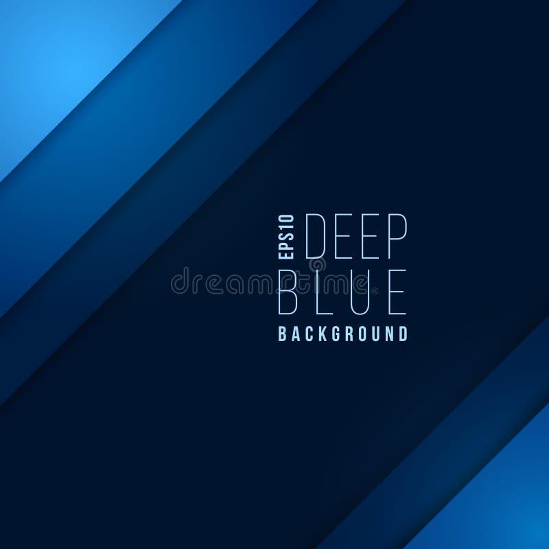 Σχεδιάγραμμα επιχειρησιακών διανυσματικό προτύπων με τις επικαλύπτοντας μπλε γωνίες εγγράφου διανυσματική απεικόνιση