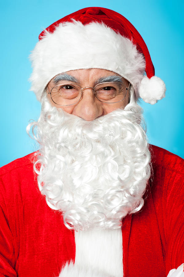 Σχεδιάγραμμα που καλύπτονται του χαμογελώντας πατέρα Santa στοκ εικόνες