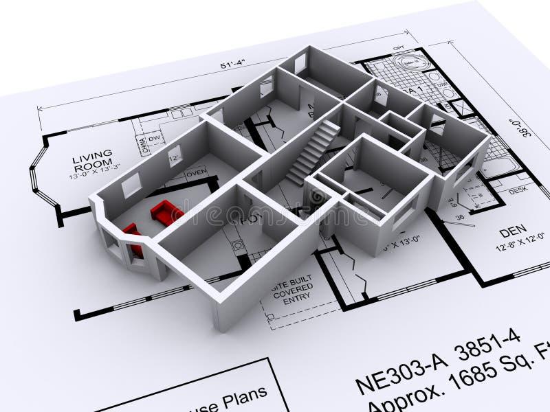 σχεδιάγραμμα σπιτιών ελεύθερη απεικόνιση δικαιώματος
