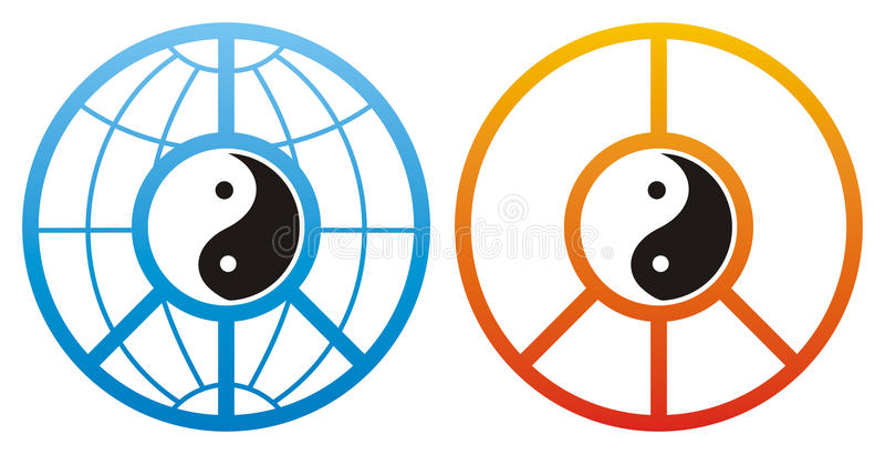 σχεδιάζει yang yin ελεύθερη απεικόνιση δικαιώματος