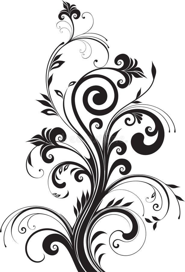 σχεδιάστε το floral πρότυπο στοκ εικόνα με δικαίωμα ελεύθερης χρήσης