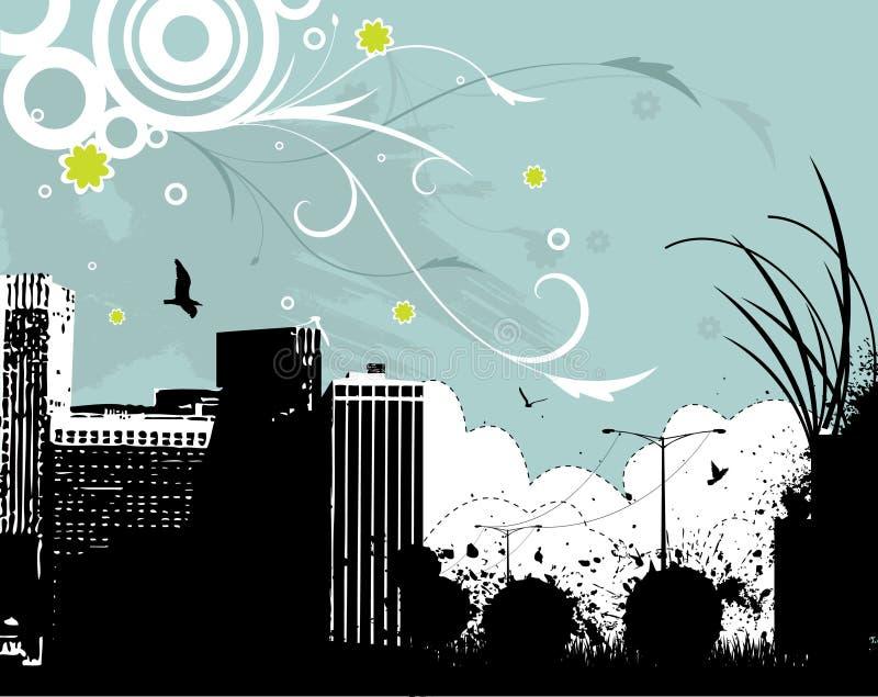 σχεδιάστε floral αστικό ελεύθερη απεικόνιση δικαιώματος