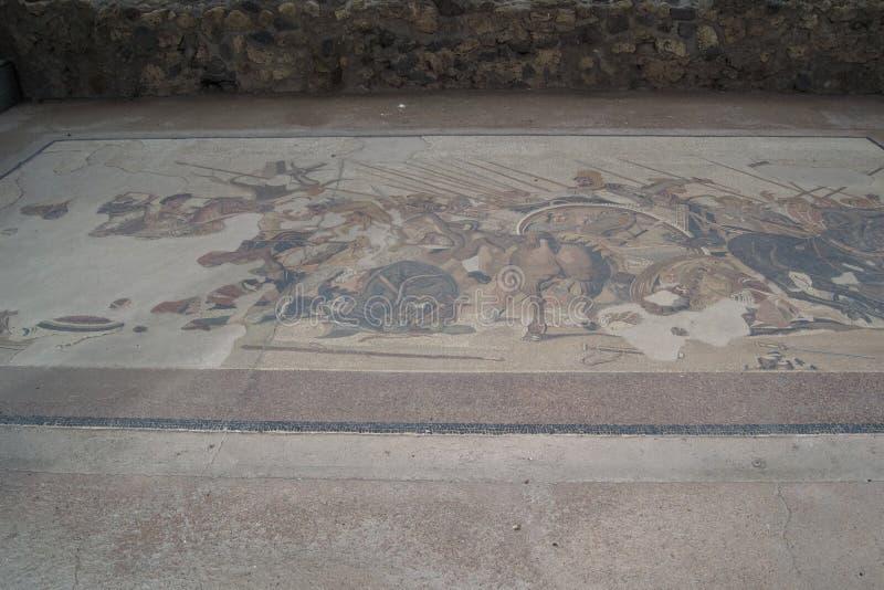 Σχεδιασμένα πατώματα παλιότερα στην πόλη των ισχίων Ιταλία στοκ εικόνα