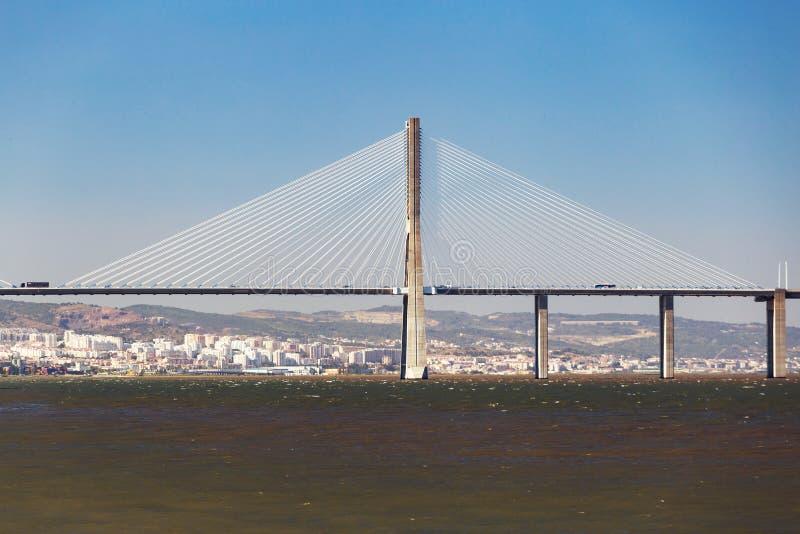 σχεδιασμένο DA gama Λισσαβώνα Σαντιάγο Vasco calatrava γεφυρών στοκ εικόνα με δικαίωμα ελεύθερης χρήσης