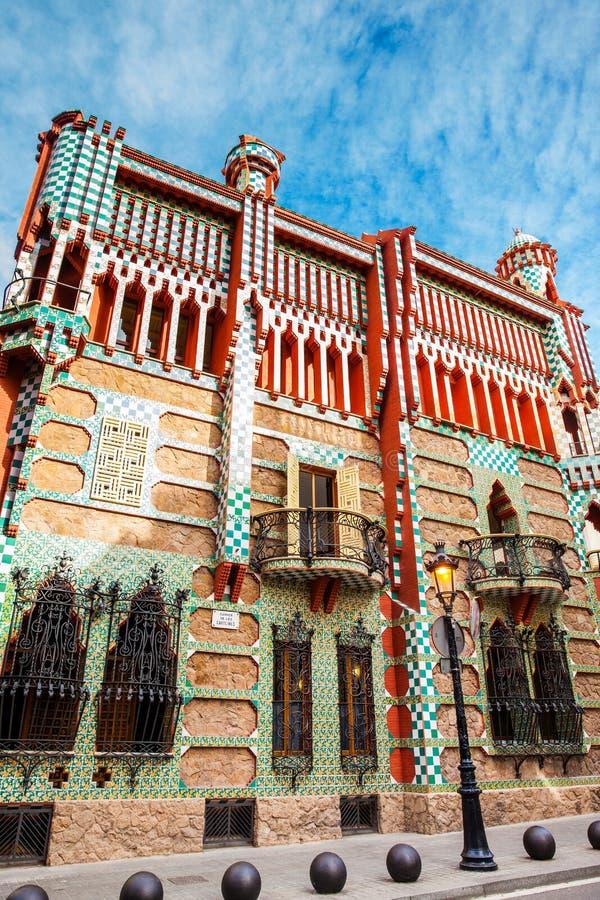 Σχεδιασμένο Vicens το s σπίτι του Antoni Gaudi ` στοκ εικόνα