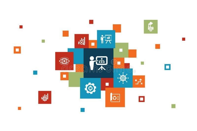 Σχεδιασμός επιχείρησης Infographic 10 βήματα ελεύθερη απεικόνιση δικαιώματος