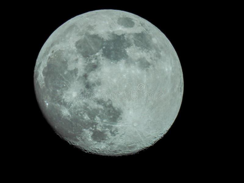 Σχεδόν πανσέληνος στο νυχτερινό ουρανό στοκ εικόνες με δικαίωμα ελεύθερης χρήσης