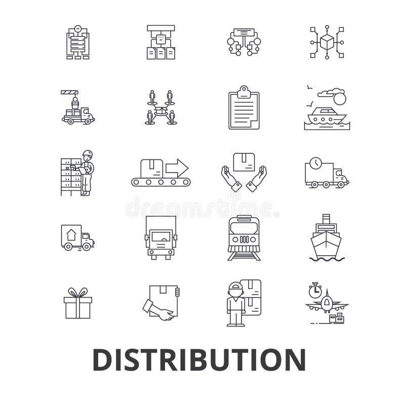 Σχετικά με τη διανομή εικονίδια απεικόνιση αποθεμάτων