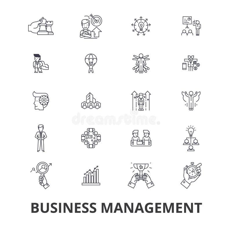 Σχετικά με τη διοίκηση επιχειρήσεων εικονίδια απεικόνιση αποθεμάτων