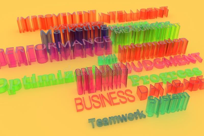 Σχετικές με την επιχείρηση λέξεις κλειδιά Για τη γραφική τυπογραφία της CGI σχεδίου ή υποβάθρου Πληροφορίες, βελτίωση, πρόοδος, σ στοκ εικόνες