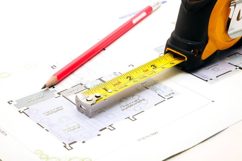 Σχεδιάγραμμα κατασκευής στοκ εικόνα