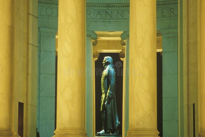 Σχεδιάγραμμα του αγάλματος του Thomas Jefferson, μνημείο του Jefferson, Ουάσιγκτον, συνεχές ρεύμα στοκ φωτογραφίες με δικαίωμα ελεύθερης χρήσης