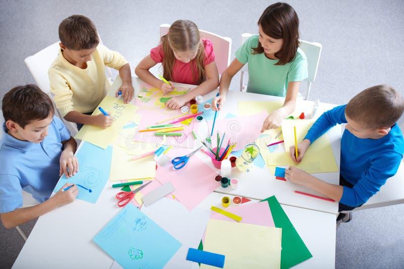 Σχεδιασμός στην ομάδα στοκ φωτογραφία