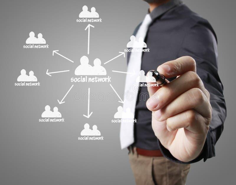 Σχεδιασμός της κοινωνικής δομής δικτύων διανυσματική απεικόνιση