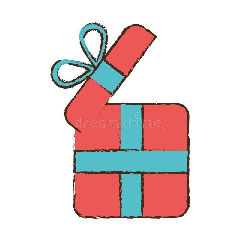 σχεδιασμός της ρόδινης κορδέλλας περικαλυμμάτων κιβωτίων δώρων απεικόνιση αποθεμάτων