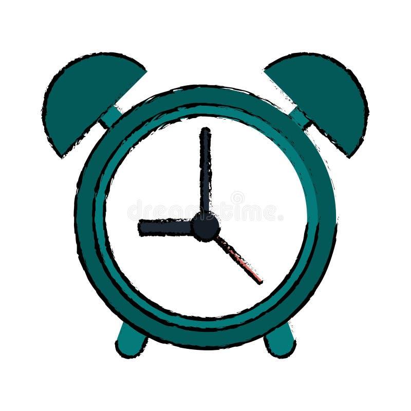 Σχεδιασμός του πράσινου συναγερμού χρονικών ρολογιών ρολογιών ελεύθερη απεικόνιση δικαιώματος