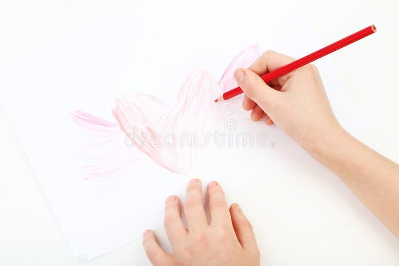 Σχεδιασμός χεριών Childs στοκ φωτογραφία με δικαίωμα ελεύθερης χρήσης