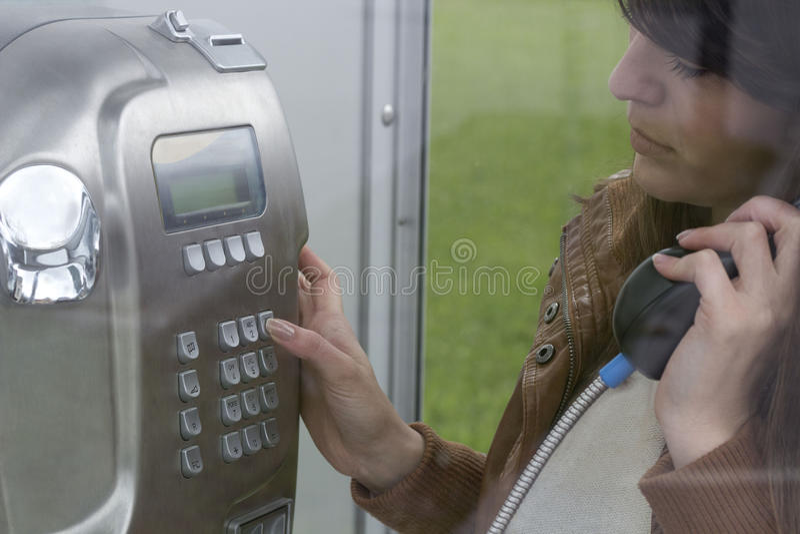 Σχηματίστε έναν αριθμό τηλεφώνου στοκ εικόνα
