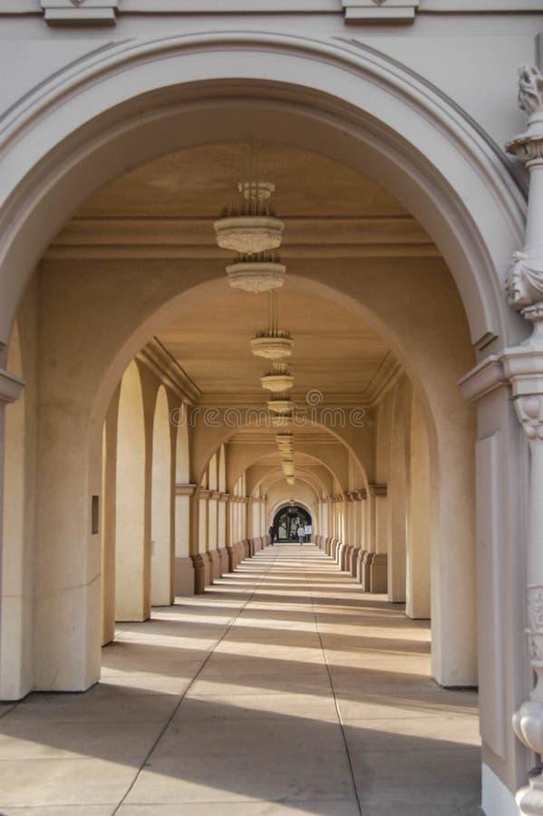 Σχηματισμένος αψίδα διάδρομος - Σαν Ντιέγκο στοκ εικόνες με δικαίωμα ελεύθερης χρήσης