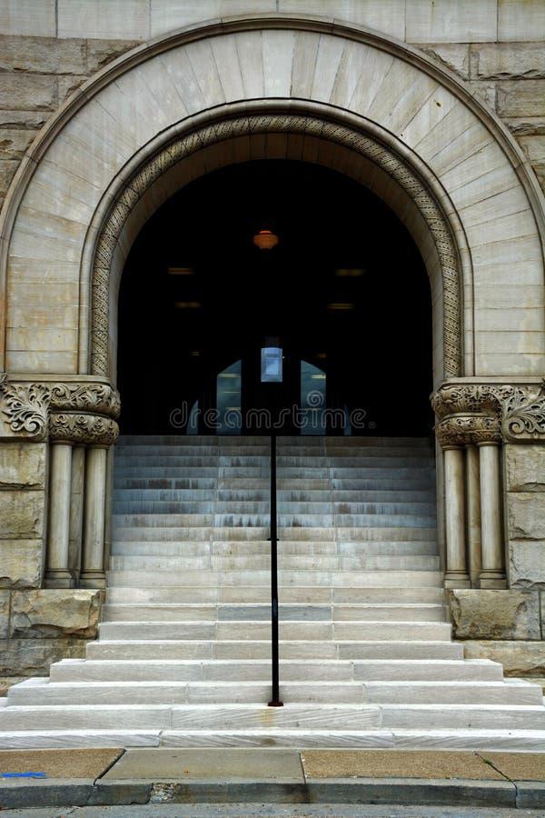 Σχηματισμένος αψίδα entranceway στοκ φωτογραφία