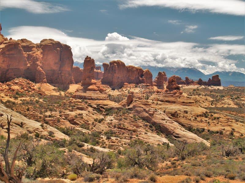 Σχηματισμοί βράχου στο εθνικό πάρκο αψίδων στη Γιούτα στοκ εικόνες με δικαίωμα ελεύθερης χρήσης