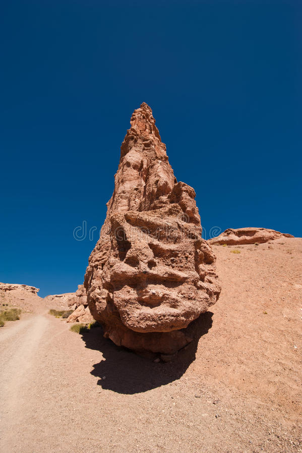 Σχηματισμοί βράχου στο φαράγγι Charyn στοκ εικόνα με δικαίωμα ελεύθερης χρήσης