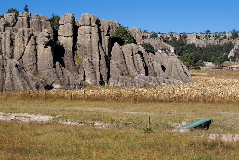 Σχηματισμοί βράχου των φαραγγιών χαλκού, Chihuahua, Μεξικό στοκ εικόνες με δικαίωμα ελεύθερης χρήσης