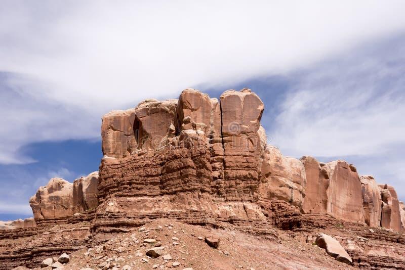 Σχηματισμοί βράχου Hoodoo στα εθνικά βουνά πάρκων του Utah στοκ εικόνες