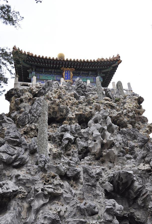 Σχηματισμοί βράχων στον αυτοκρατορικό κήπο από την απαγορευμένη πόλη από το Πεκίνο στοκ εικόνα με δικαίωμα ελεύθερης χρήσης