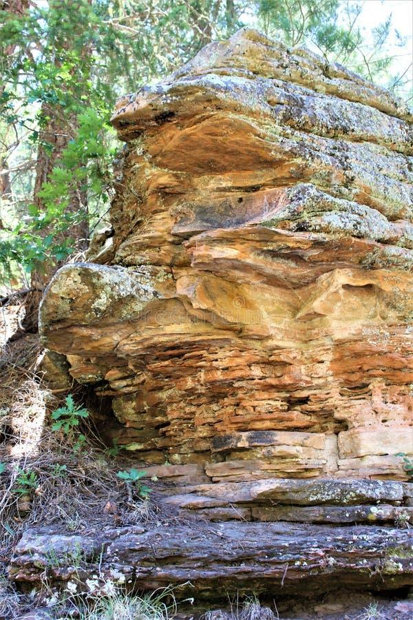 Σχηματισμός βράχου στη λίμνη φαραγγιών ξύλων, κομητεία Coconino, Αριζόνα, Ηνωμένες Πολιτείες στοκ φωτογραφίες