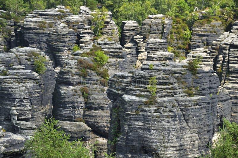 Σχηματισμός βράχου ψαμμίτη στοκ φωτογραφίες με δικαίωμα ελεύθερης χρήσης