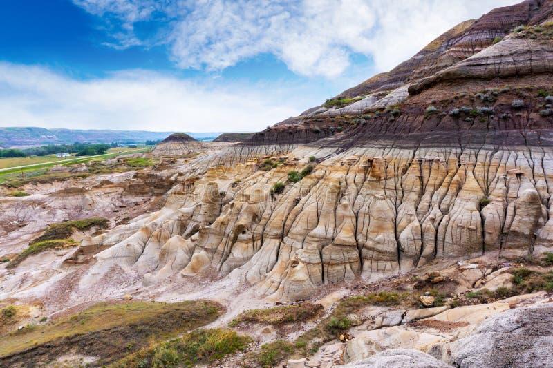 Σχηματισμός βράχου Hoodoos σε Drumheller, Αλμπέρτα, Καναδάς στοκ φωτογραφίες με δικαίωμα ελεύθερης χρήσης