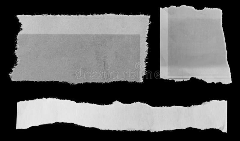 Σχισμένα έγγραφα για το Μαύρο διανυσματική απεικόνιση