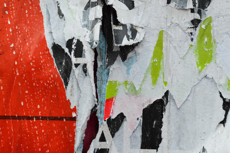 Σχισμένα στρώματα αφισών στοκ εικόνα με δικαίωμα ελεύθερης χρήσης