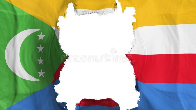 Σχισμένες Κομόρες που φέρουν τη σημαία ελεύθερη απεικόνιση δικαιώματος