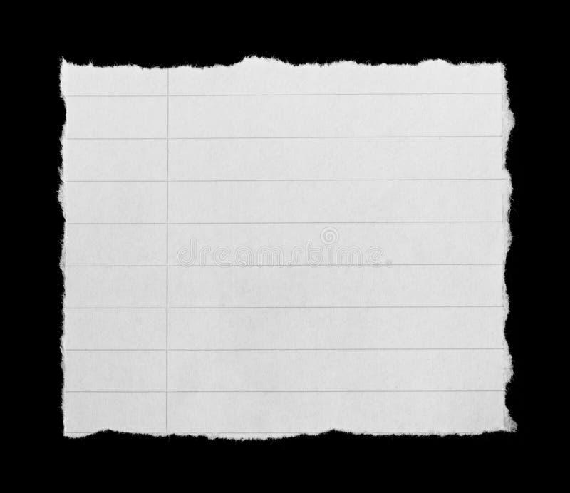 Σχισμένη σημειωματάριο σελίδα στοκ φωτογραφίες με δικαίωμα ελεύθερης χρήσης