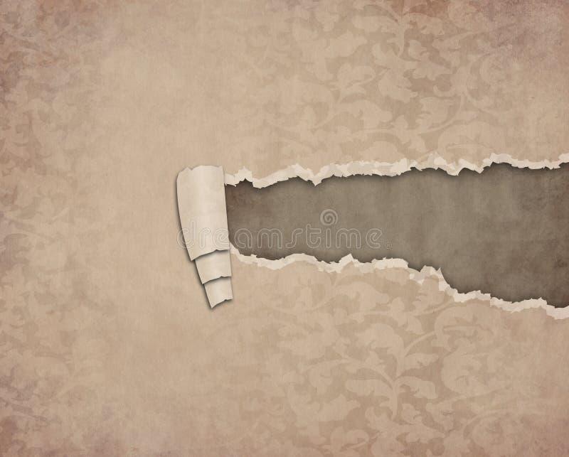 σχισμένος έγγραφο τρύγος διανυσματική απεικόνιση