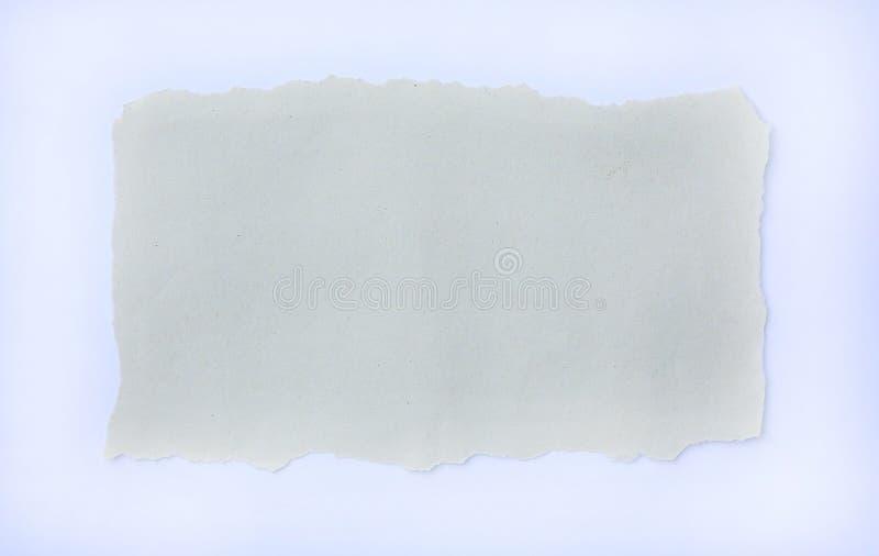 Σχισμένο έγγραφο για το άσπρο υπόβαθρο στοκ εικόνες