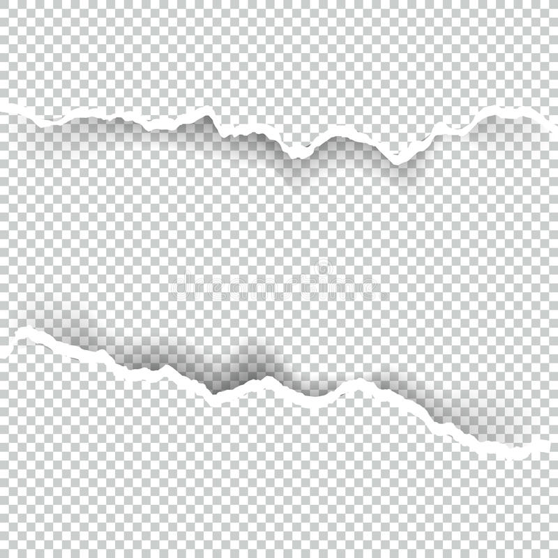 Σχισμένο έγγραφο διαφανές με το διάστημα για το κείμενο, τη διανυσματικές τέχνη και την απεικόνιση απεικόνιση αποθεμάτων