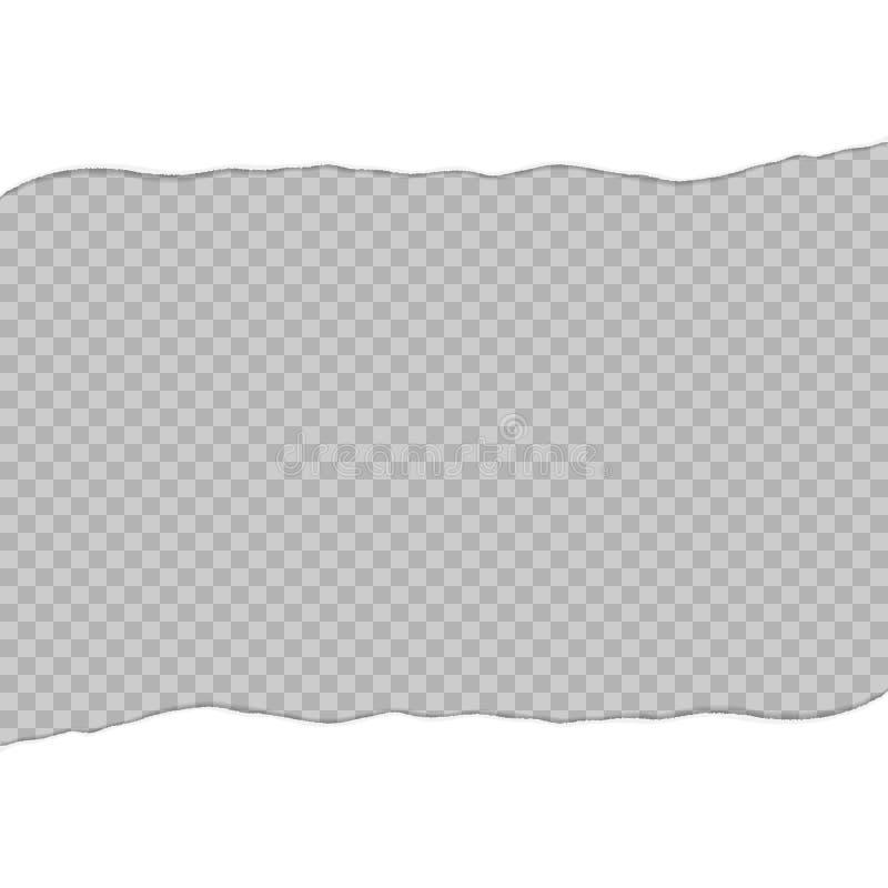 Σχισμένο έγγραφο σε δύο φύλλα Η Λευκή Βίβλος που σχίζεται στο κέντρο Σχισμένο πρότυπο εγγράφου απεικόνιση αποθεμάτων