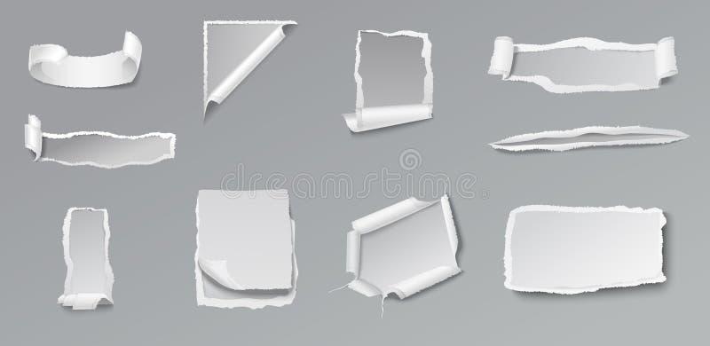 Σχισμένο κενό σύνολο εγγράφου διανυσματική απεικόνιση