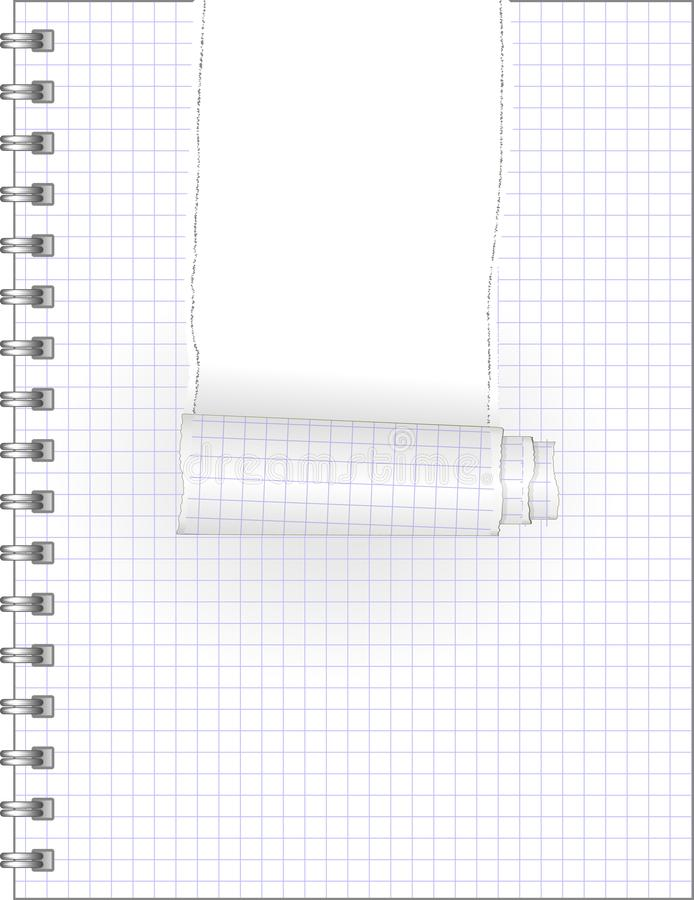 Σχισμένο σημειωματάριο απεικόνιση αποθεμάτων