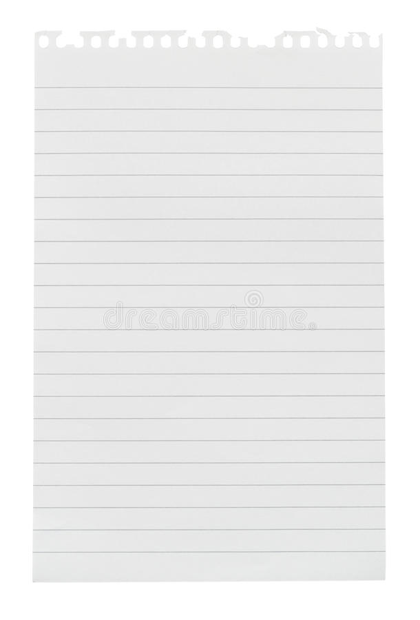 Σχισμένο φύλλο του εγγράφου σημειώσεων στοκ εικόνες