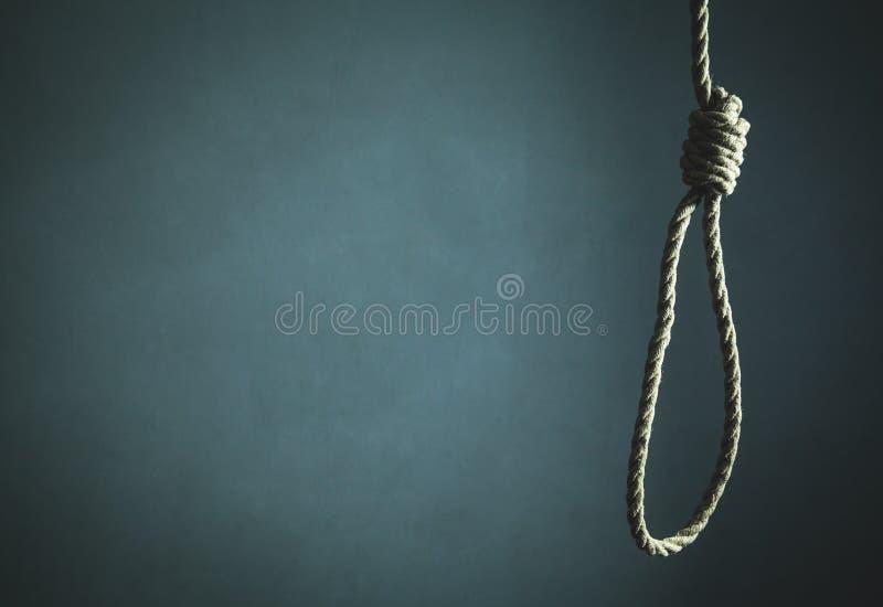 Σχοινί αυτοκτονίας Τρομακτική και έννοια θανάτου στοκ φωτογραφίες με δικαίωμα ελεύθερης χρήσης