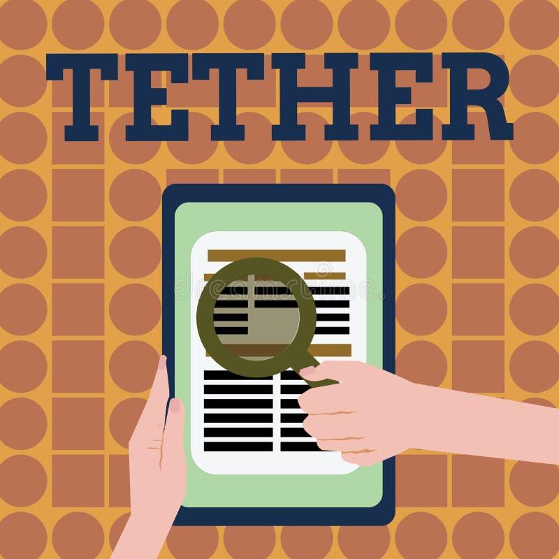 Σχοινί γραψίματος κειμένων γραφής Η έννοια που σημαίνει το smartphone χρήσης στη διαταγή συνδέει τον υπολογιστή ή άλλη συσκευή με ελεύθερη απεικόνιση δικαιώματος
