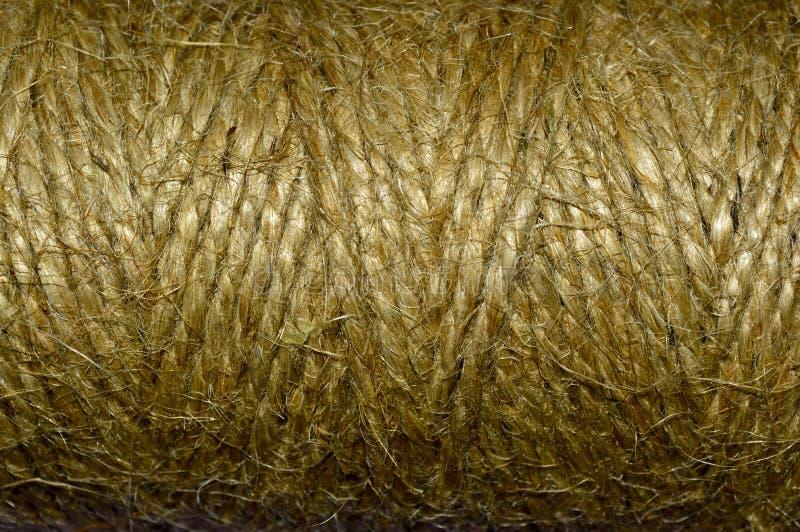 Σχοινί που τυλίγεται κατασκευασμένο στοκ φωτογραφία με δικαίωμα ελεύθερης χρήσης